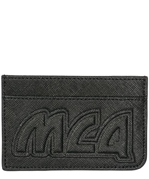 Porte carte de crédit  MCQ Alexander McQueen Metal logo 519660R4B901000 black