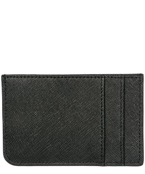 Porta carte di credito portafoglio uomo pelle metal logo secondary image