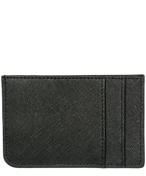 Portefeuille credit carte card crédit homme en cuir metal logo secondary image