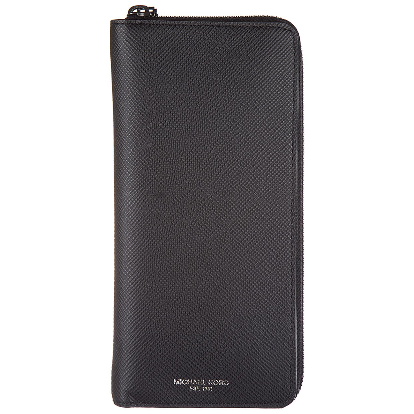 Portafoglio portamonete uomo bifold harrison tech saffiano phone cover case