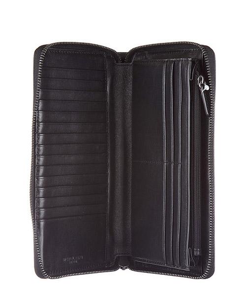 Portafoglio portamonete uomo in pelle bifold harrison travel secondary image