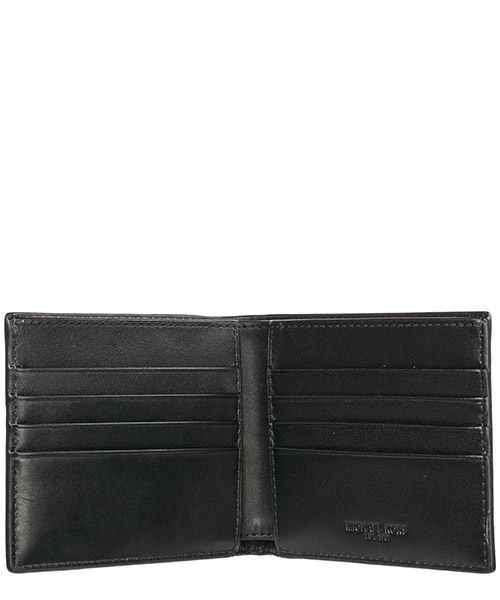 Men's genuine leather wallet credit card bifold  jet set secondary image