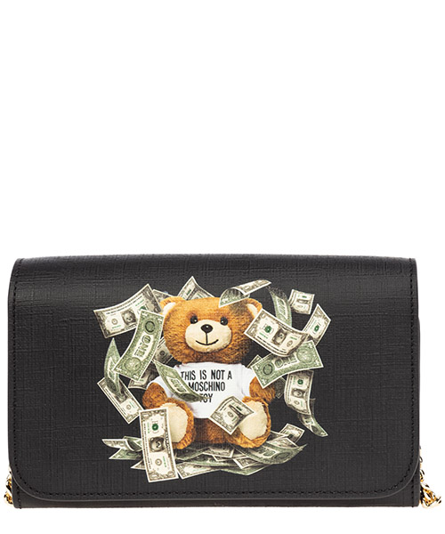 Wallet Moschino dollar teddy bear a815082103555 nero