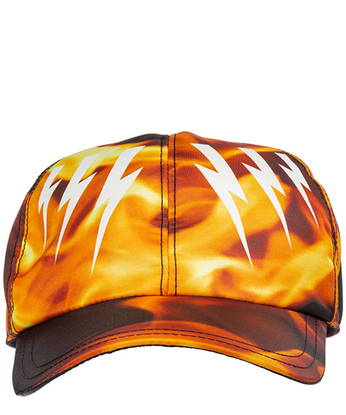 Adjustable men's hat baseball cap  mirrored bolts flames secondary image