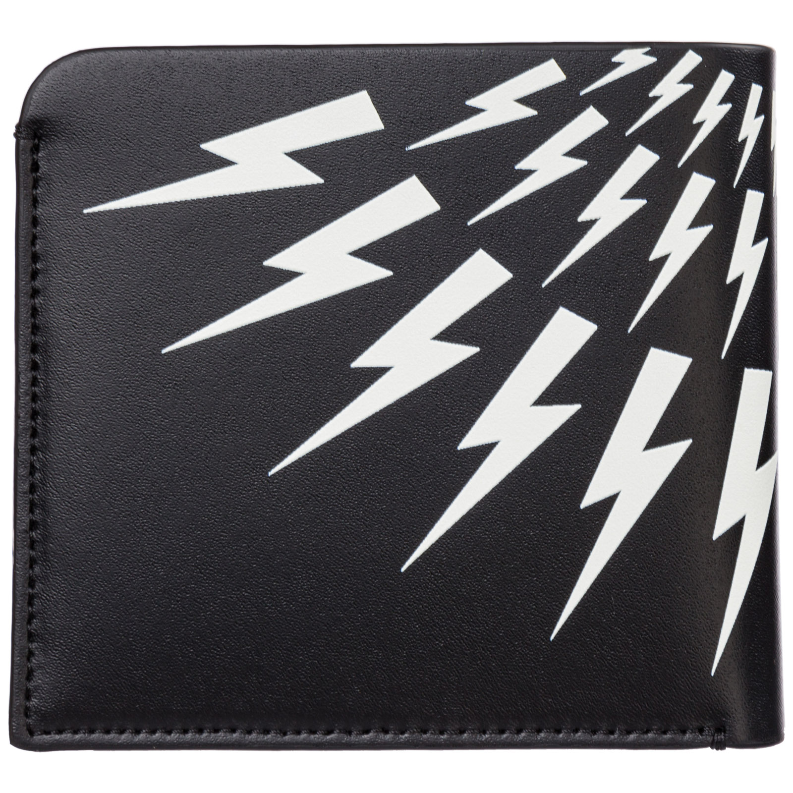 Men's genuine leather wallet credit card bifold bifold  thunderbolt fair-isle