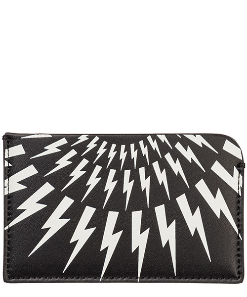 Credit card holder Neil Barrett Thunderbolt fair-isle PBSG300AM9201 524 nero