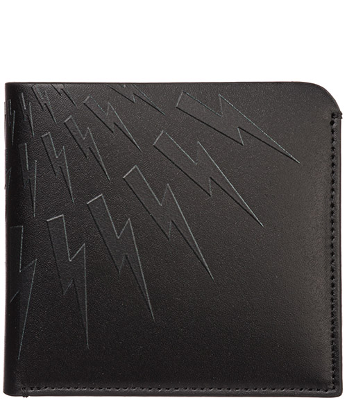 Wallet Neil Barrett Thunderbolt fair-isle PBSG301AM9201101 nero