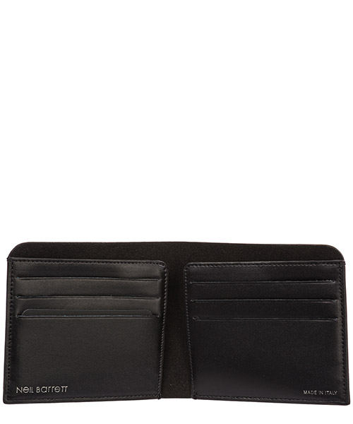Men's genuine leather wallet credit card bifold  thunderbolt fair-isle secondary image