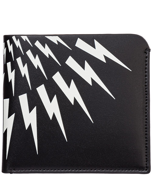 Wallet Neil Barrett Thunderbolt fair-isle PBSG301AM9201 524 nero