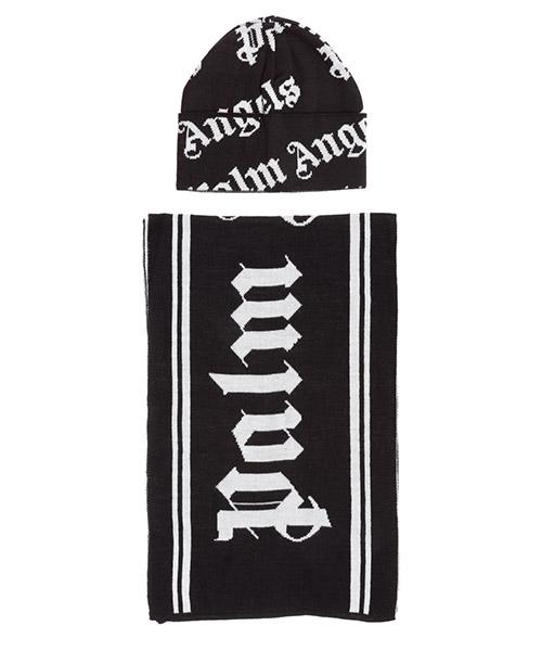 Hut und Schal Palm Angels Logo PMZG016F20KNI0031001 nero