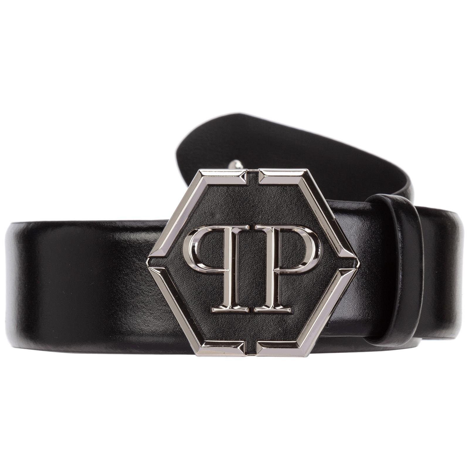 Men's genuine leather belt  hexagon