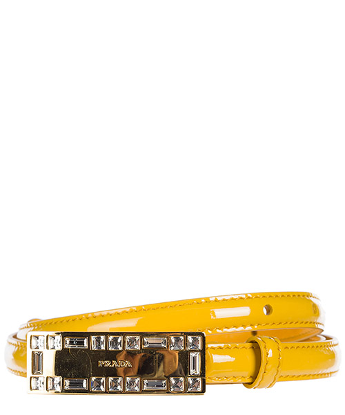 High waist belt Prada 1C5763 069 65Y giallo