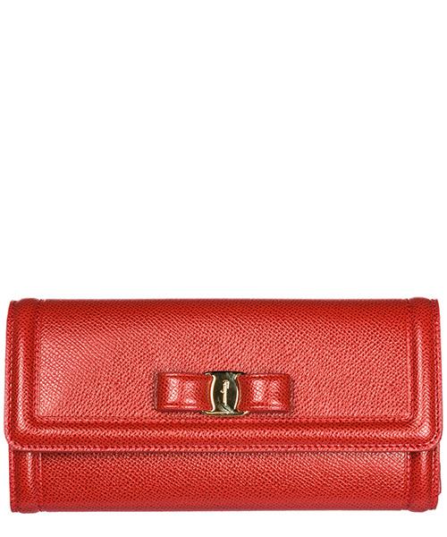 Wallet Salvatore Ferragamo Continental fiocco vara 22D154 683517 lipstick