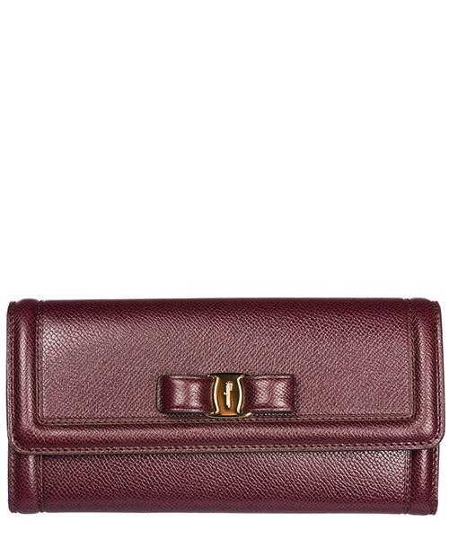 Wallet Salvatore Ferragamo Continental fiocco vara 22D154 695023 vinaccia