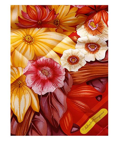 Pañuelos fulares bufanda de mujer en seda secondary image