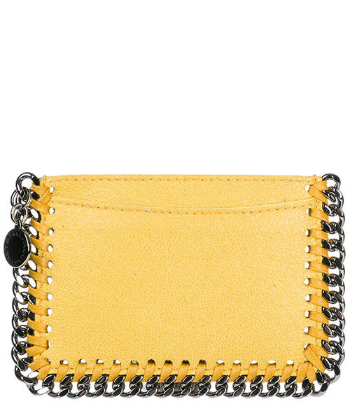Porta carte di credito Stella Mccartney 371371 W9132 7050 giallo