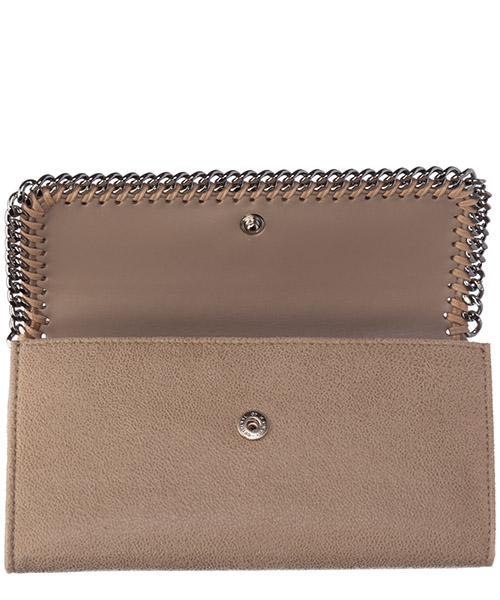 Damen geldbörse portemonnaie bifold geldbeutel  continental falabella shaggy deer secondary image