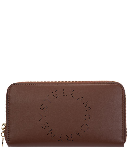 Monedero Stella Mccartney logo 502893W85427773 marrone
