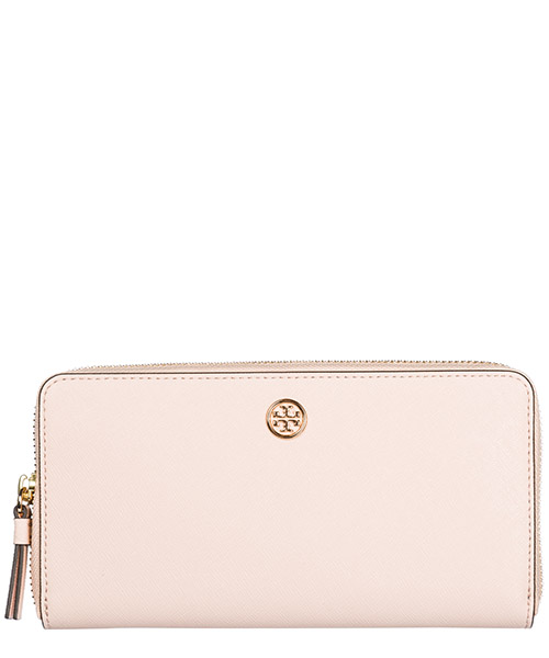 Portefeuille Tory Burch Robinson 45254 688 pale apricot/ royal navy