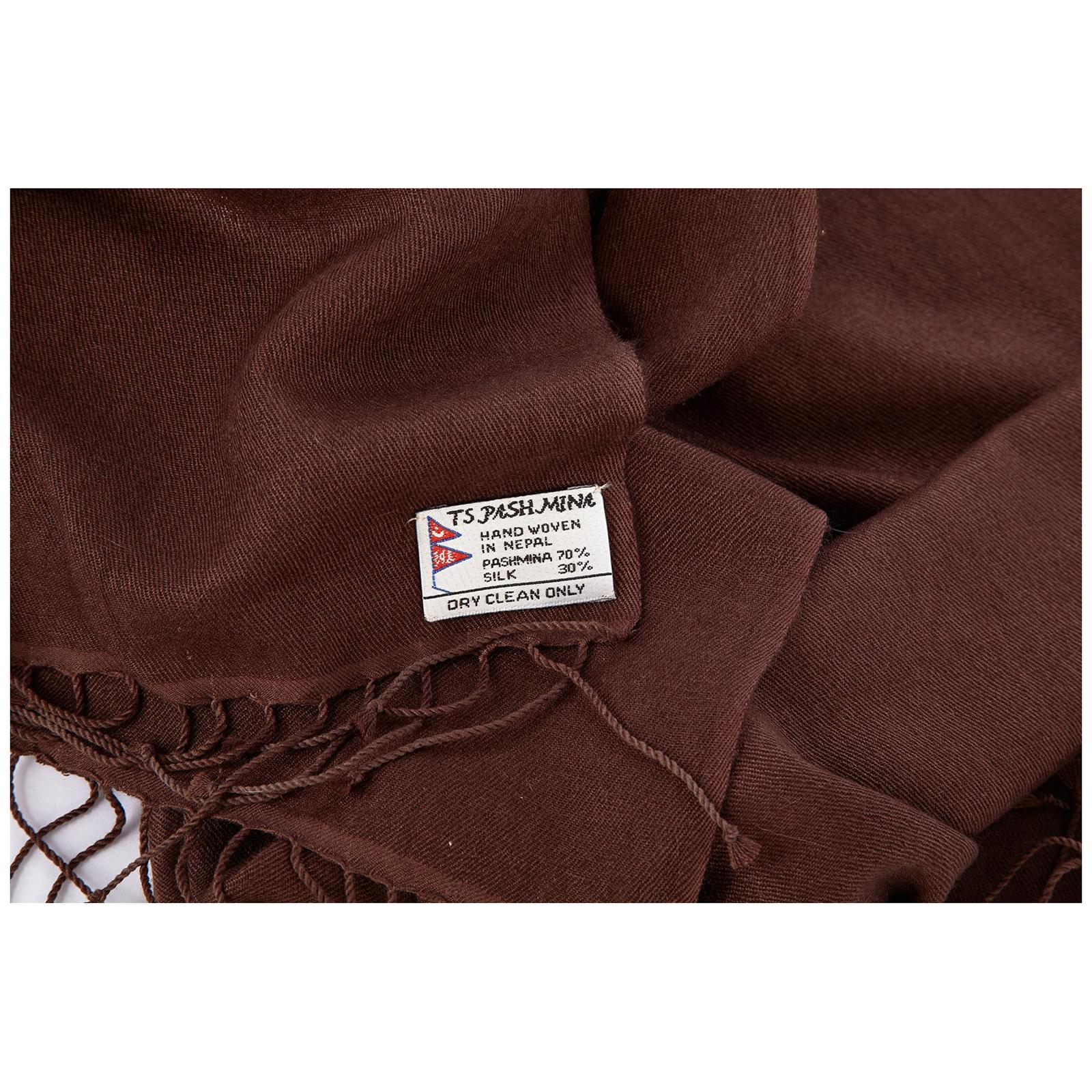 шарф-пашмина женский коричневый