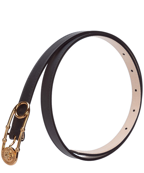 Women's genuine leather belt  safety pin secondary image