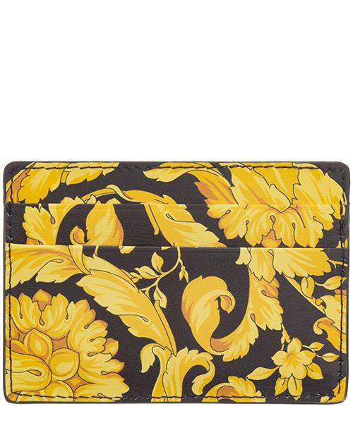 Men's genuine leather credit card case holder wallet baroque secondary image