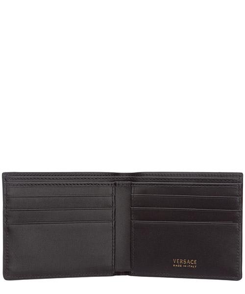Men's genuine leather wallet credit card bifold  pop medusa secondary image