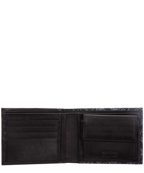 Men's wallet coin case holder purse card iin pelle bifold secondary image
