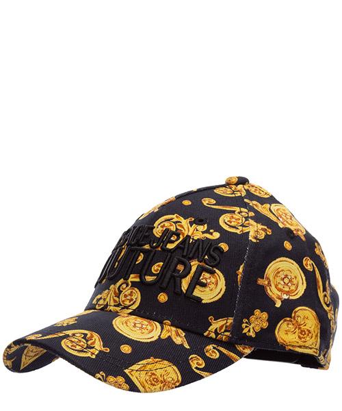 Baseball cap Versace Jeans Couture logo baroque EE8YVBK15-ES0686_E899 nero