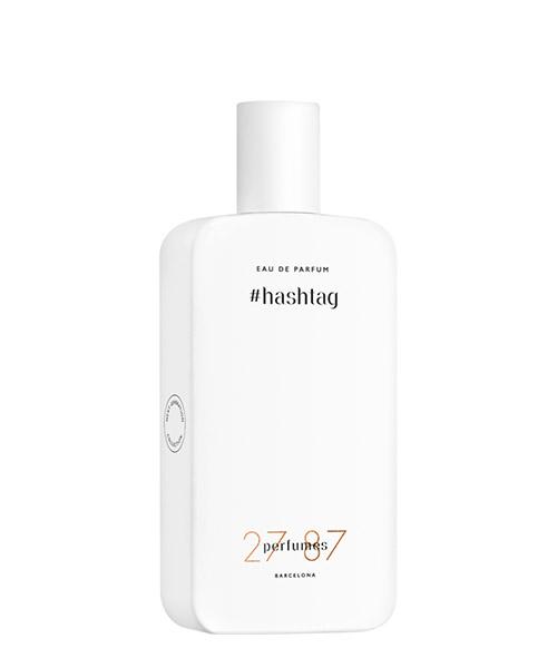 Eau de Parfum 27 87 #hashtag HASHTAG bianco