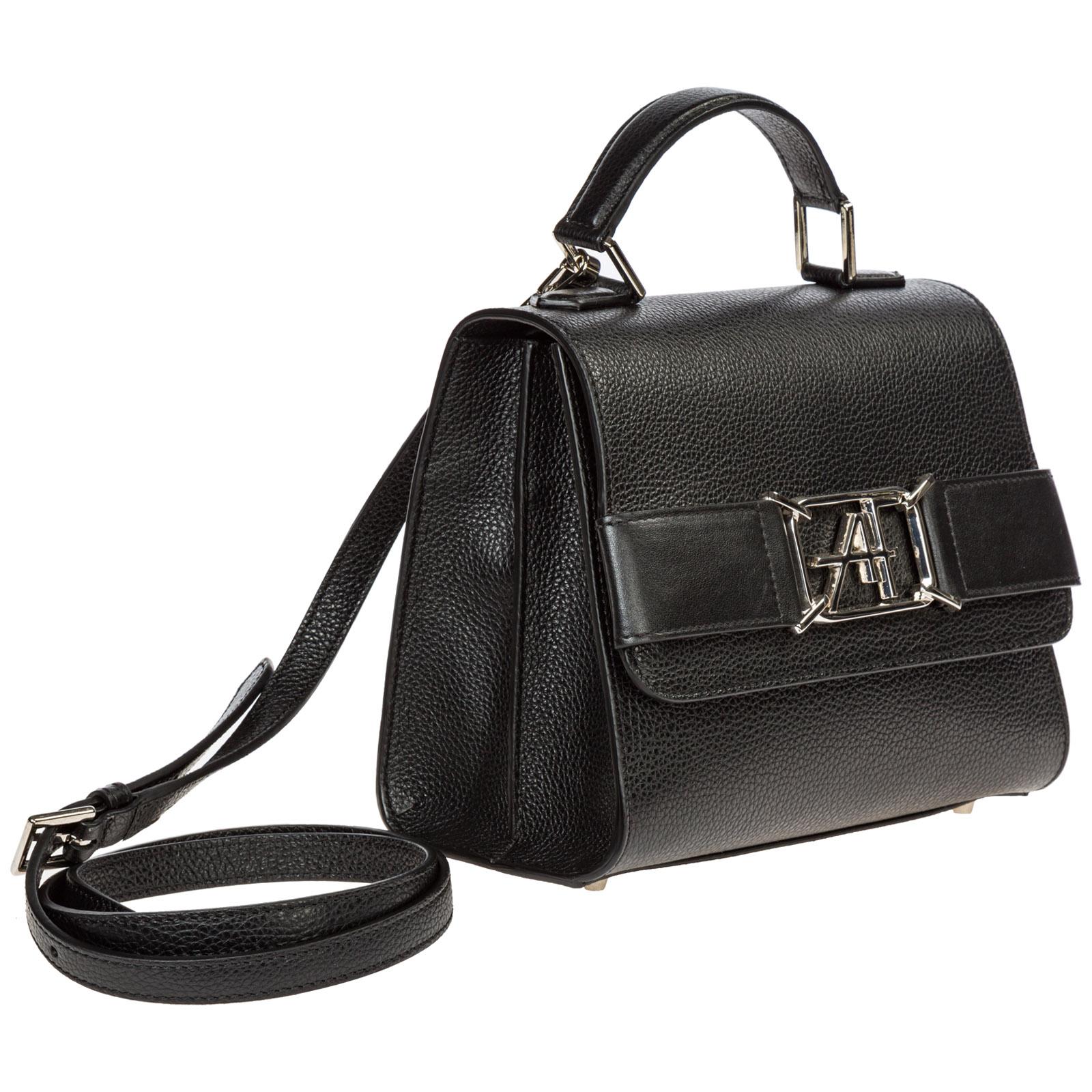 Women's leather handbag shopping bag purse