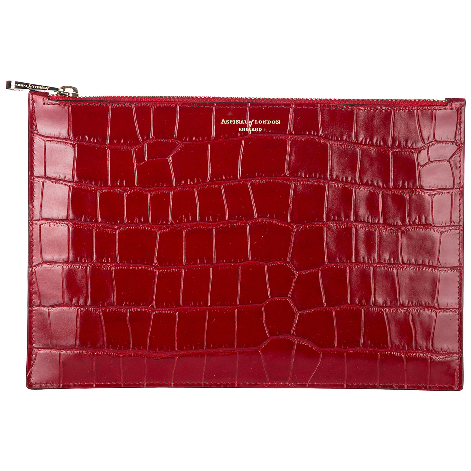 Pochette a mano donna in pelle large essential flat pouch