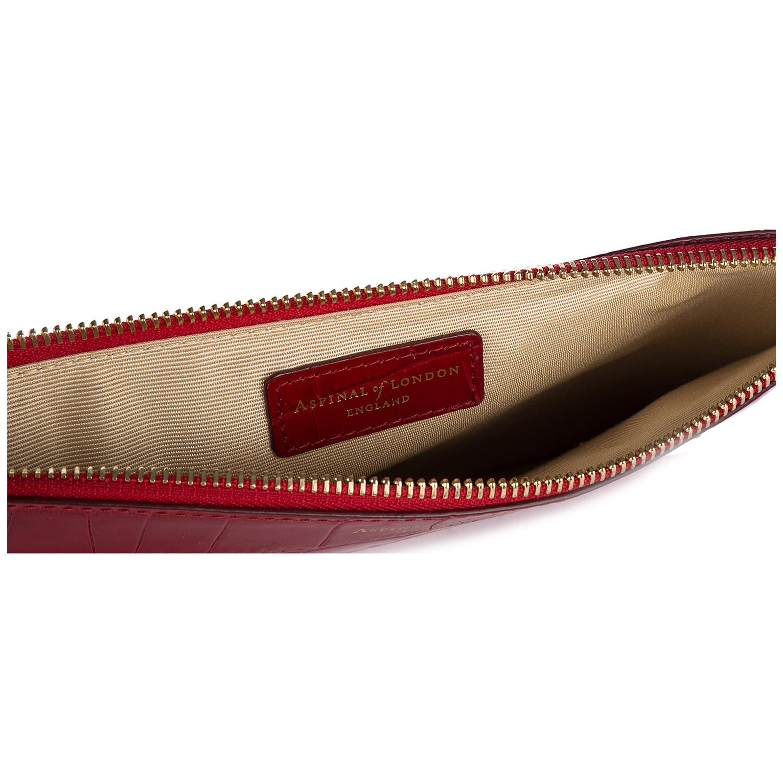 Bolso de mano pochette mujer en piel  large essential flat pouch