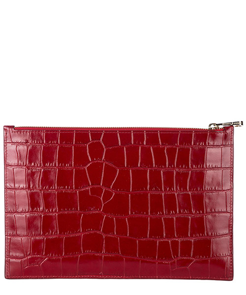Pochette a mano donna in pelle  large essential flat pouch secondary image