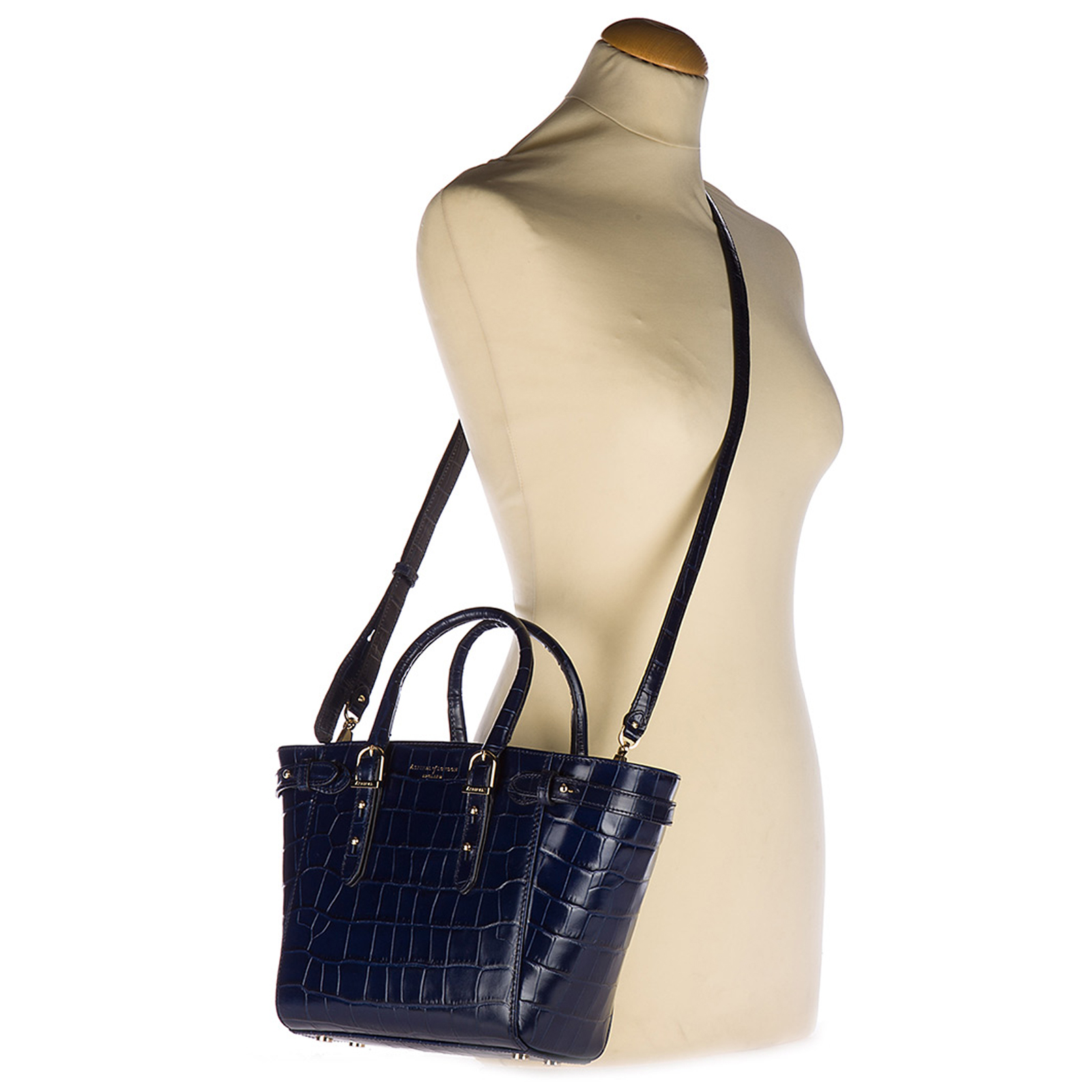 Women's leather handbag shopping bag purse marylebone