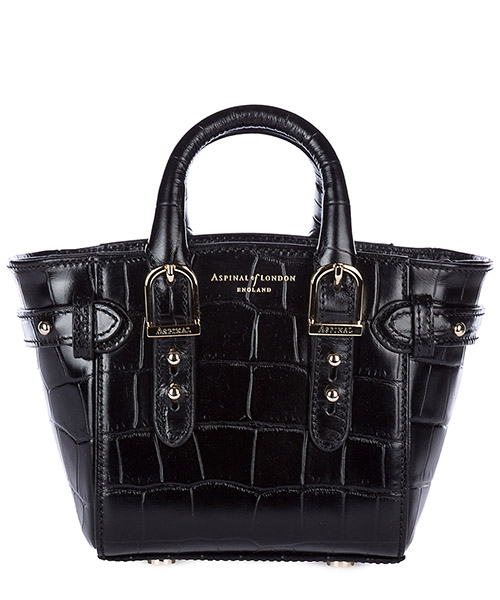Сумка Aspinal of London 042-2061 deep shine black croc