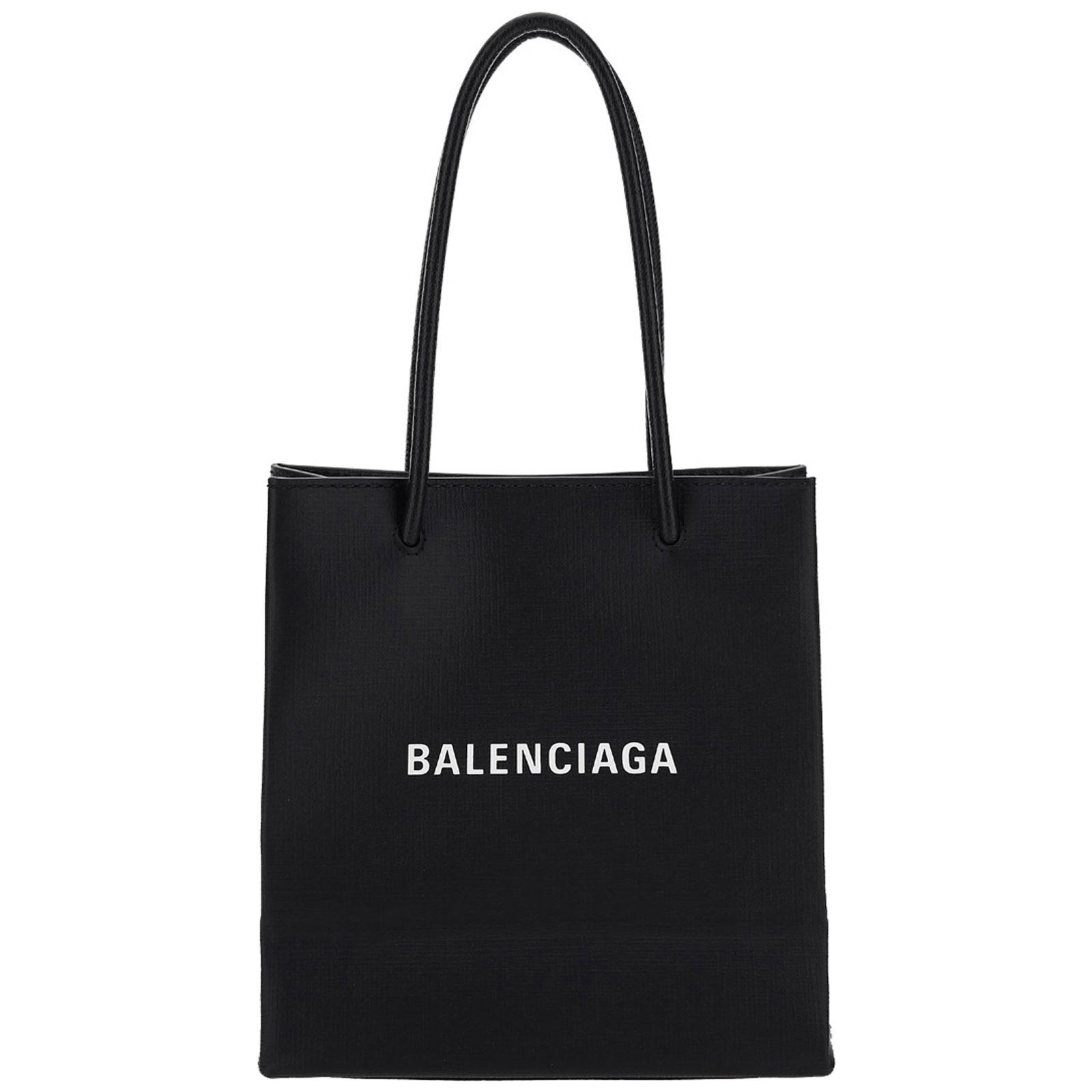 BALENCIAGA MEN'S LEATHER BAG HANDBAG TOTE SHOPPING NORTH SOUTH XXS