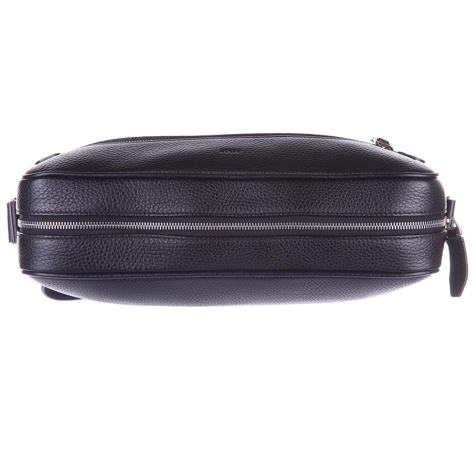 Men's leather cross-body messenger shoulder bag capa
