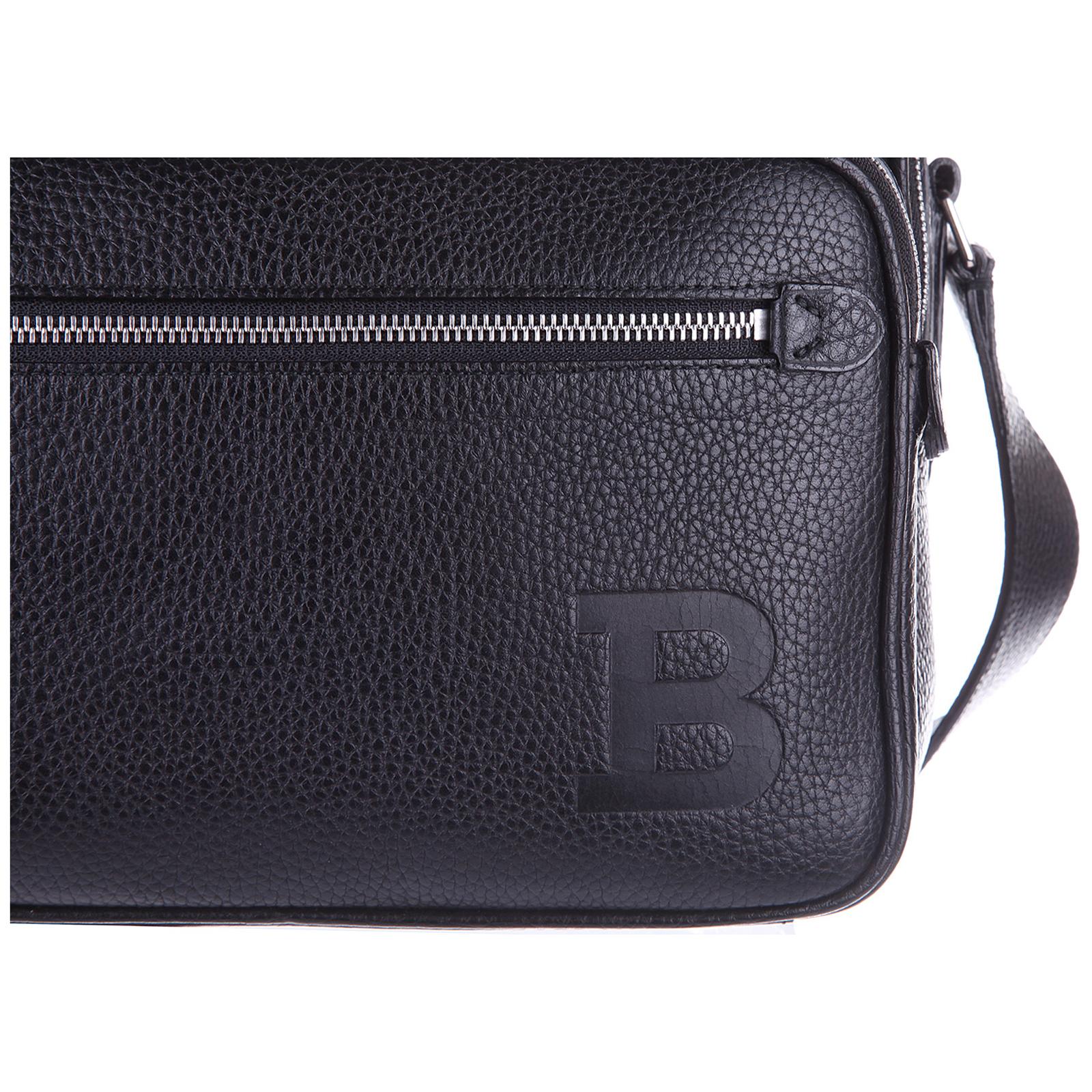 Men's leather cross-body messenger shoulder bag pulitzer