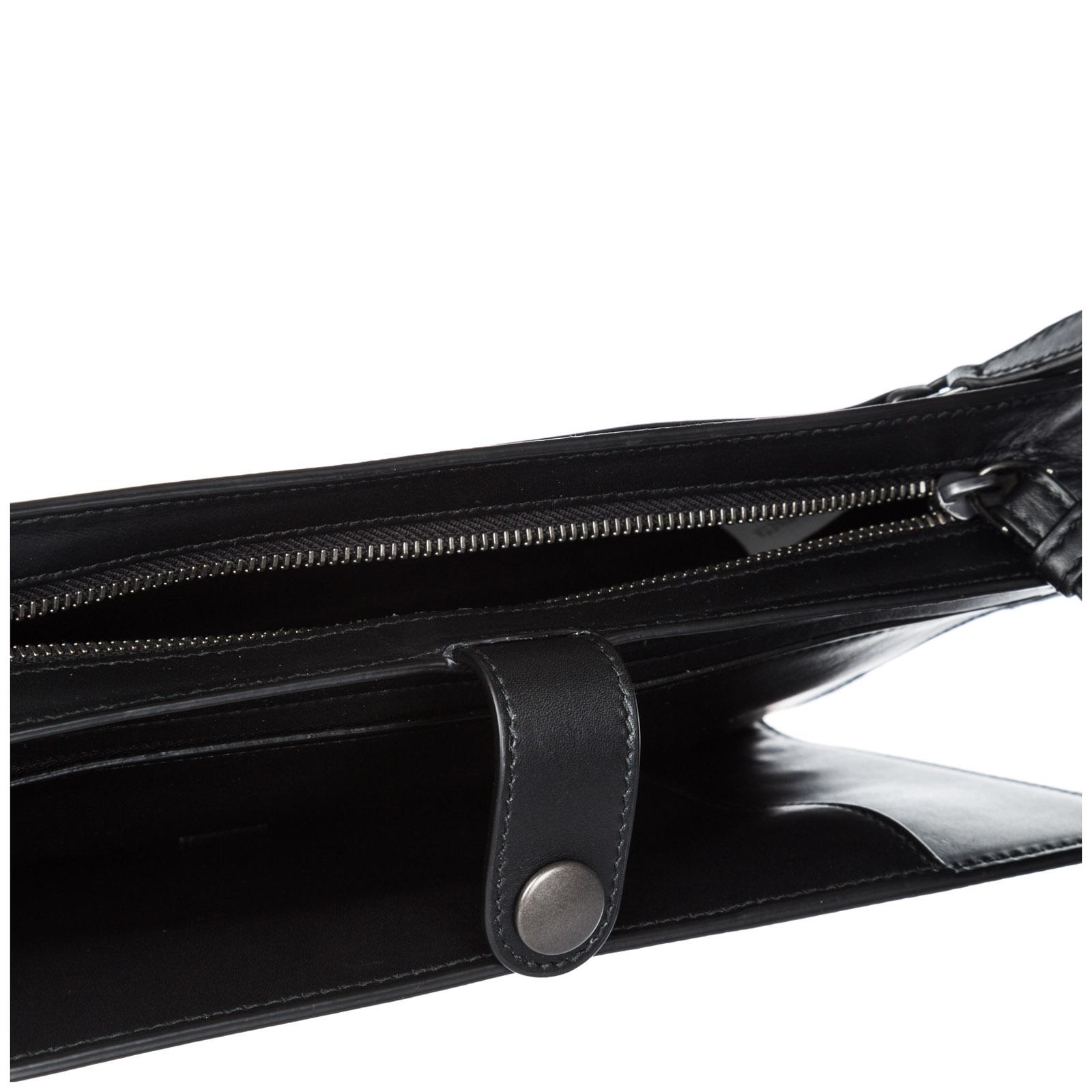 Men's leather travel document case holder