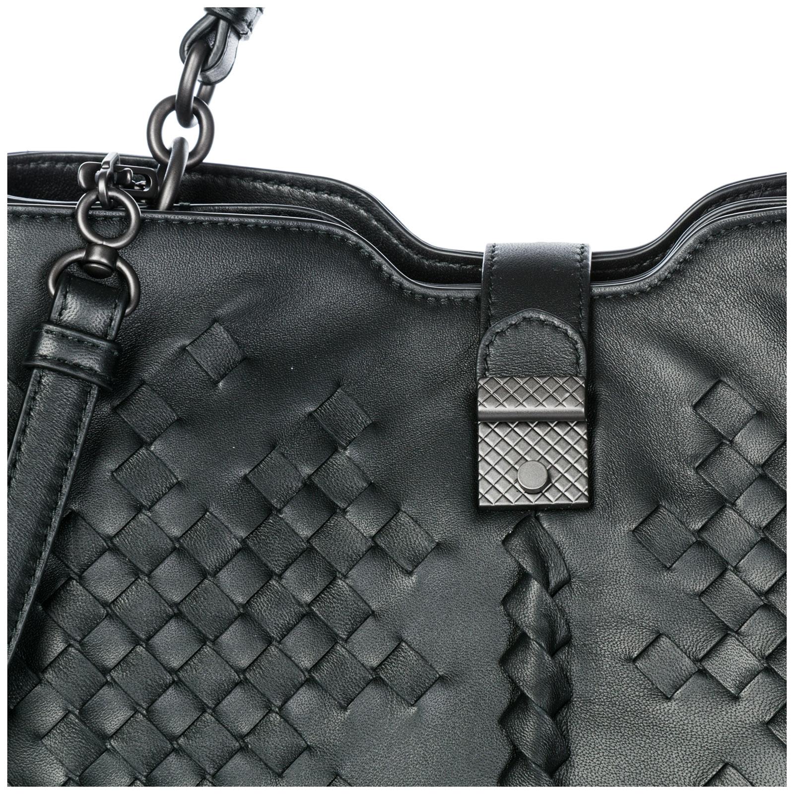 Women's leather shoulder bag napoli