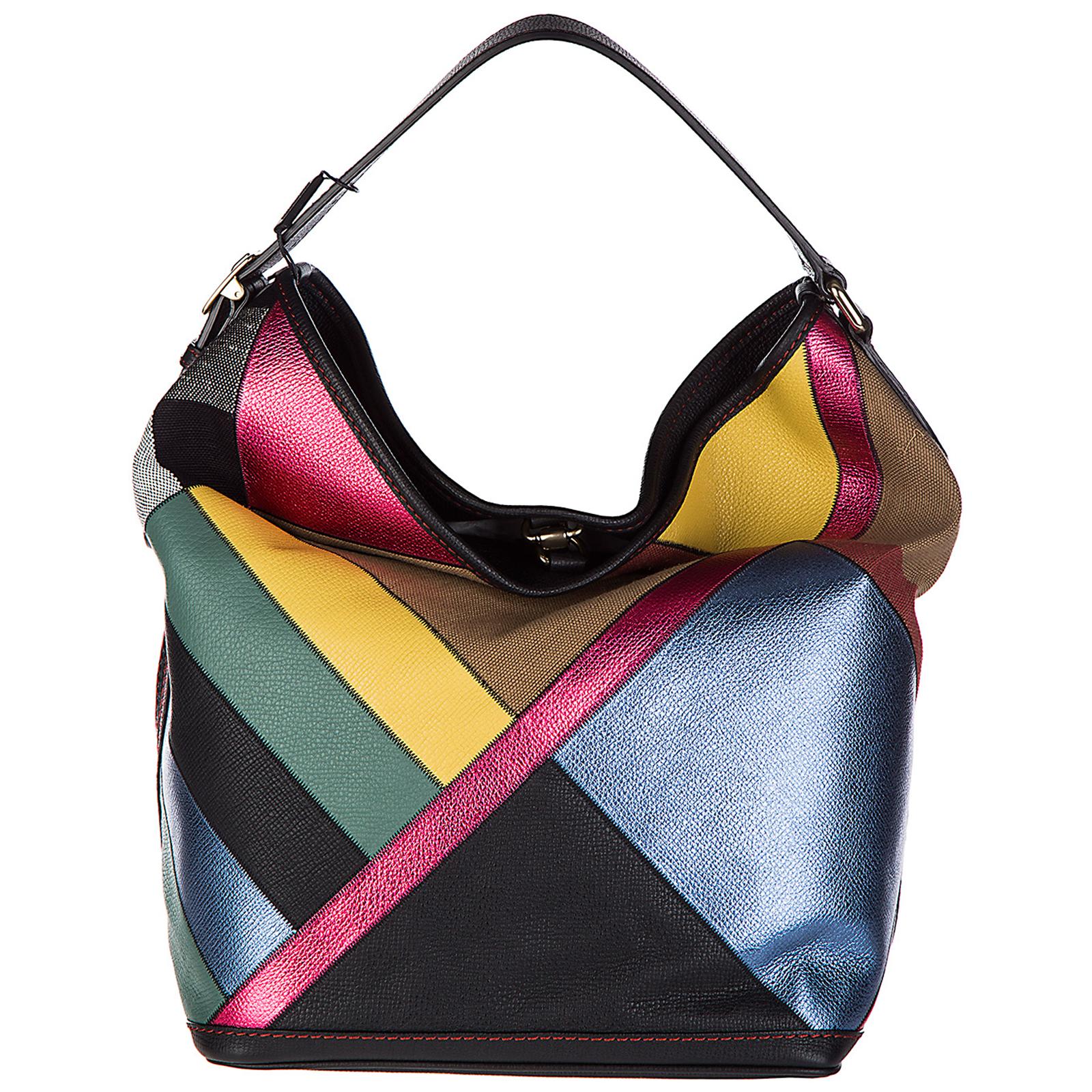 Borsa donna a mano shopping ashby canvas check patchwork
