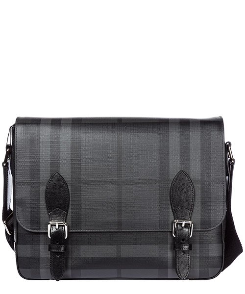 Borsa a tracolla Burberry Hendely 40568881 charcoal - black