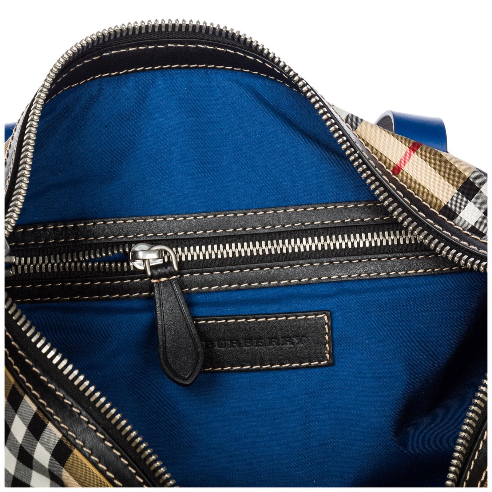 8d73db0fa6 Duffle bag Burberry Kennedy 40742161 canvas blue   FRMODA.com