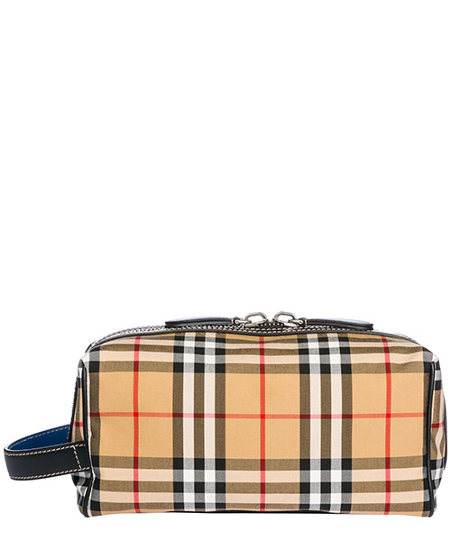 Beauty case Burberry 40747251 canvas blue
