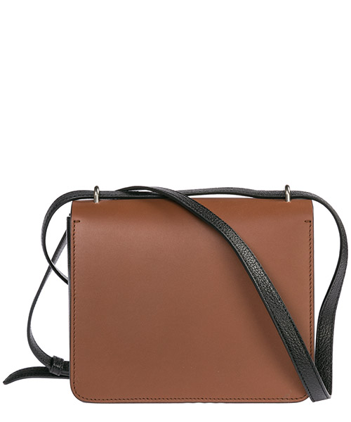 Women's leather cross-body messenger shoulder bag in pelle d ring secondary image