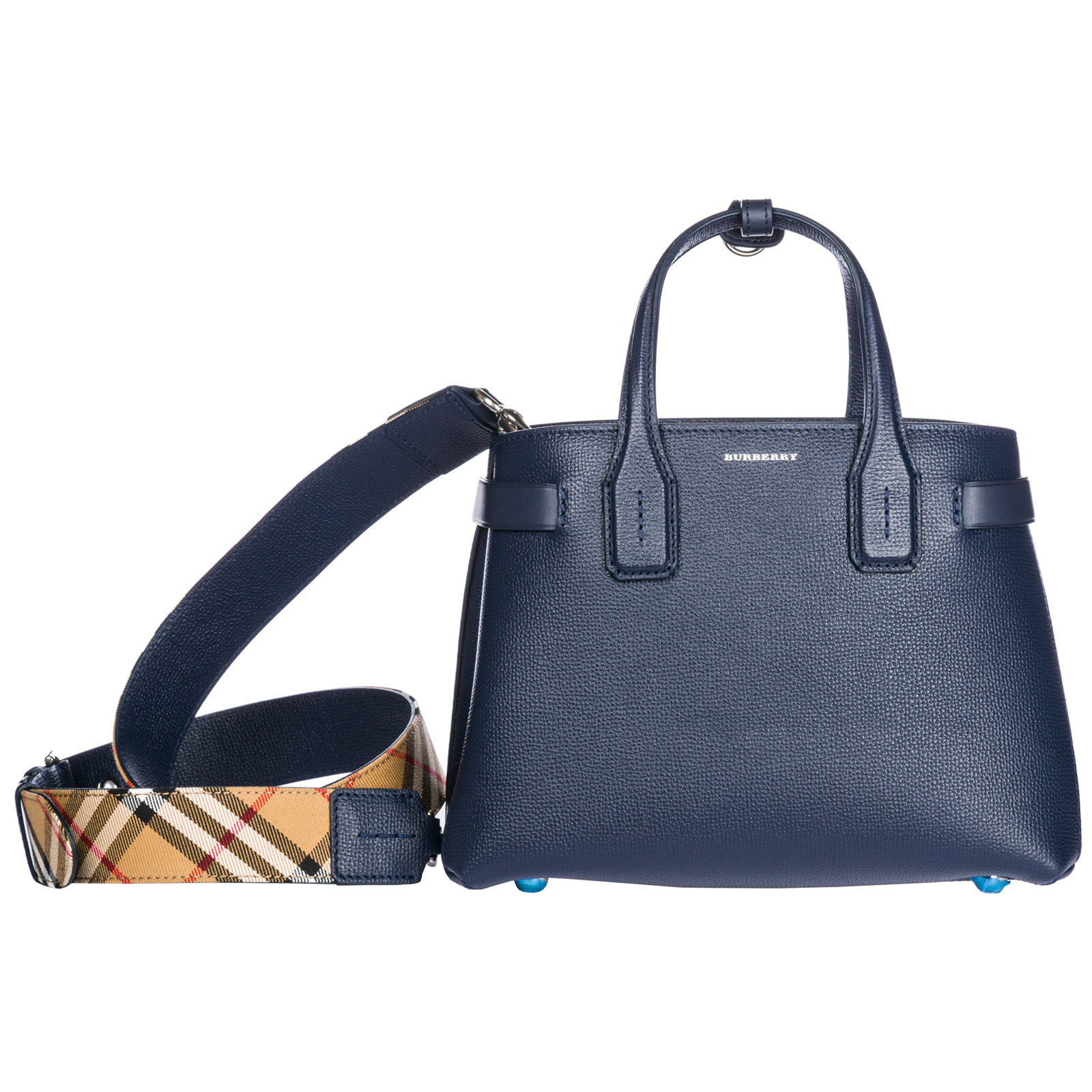 453486c929ee Women'S Leather Handbag Shopping Bag Purse The Banner in Blue