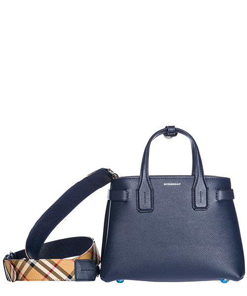 Handbag Burberry The Banner 40766361 tan/ blue