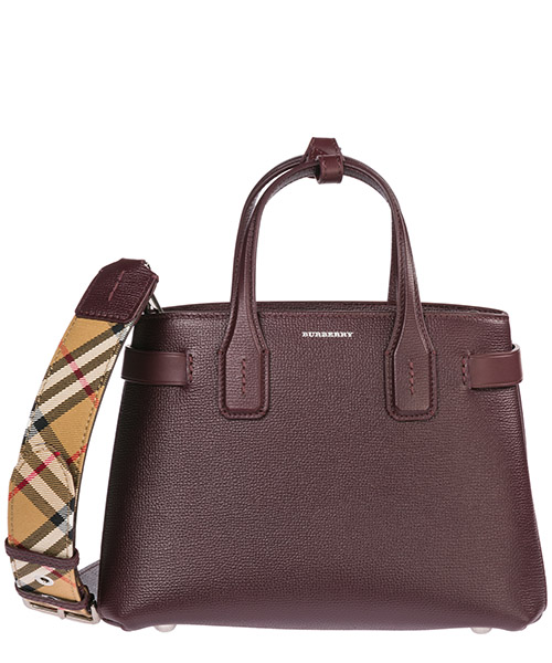 Sac à main Burberry The Banner 40766371 mahogany red