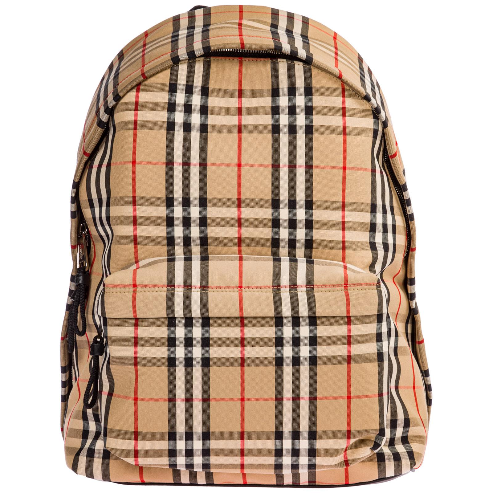 Burberry Men's Rucksack Backpack Travel In Archive Beige